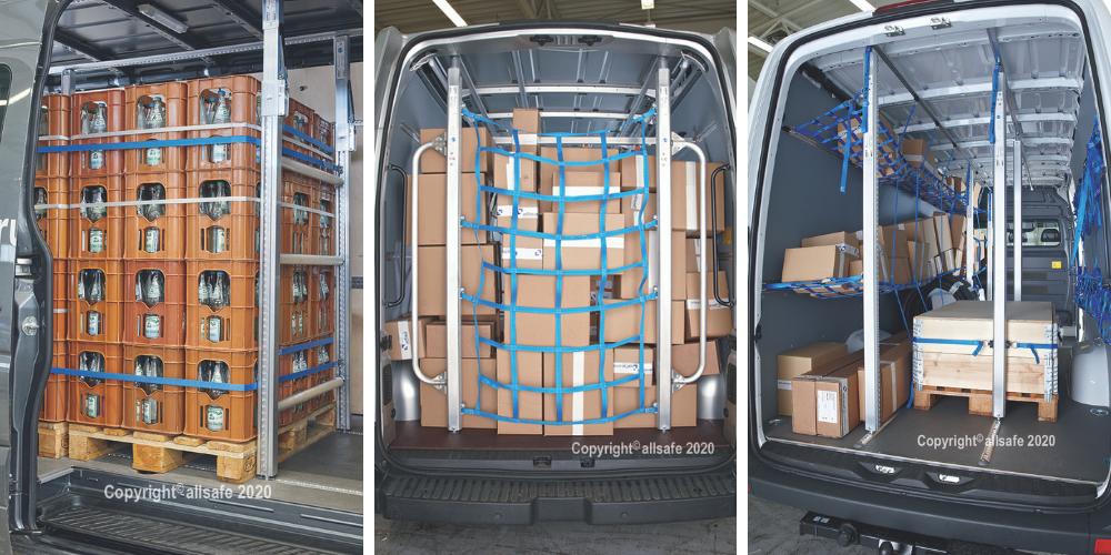 Ladungssicherung für Lieferfahrzeuge